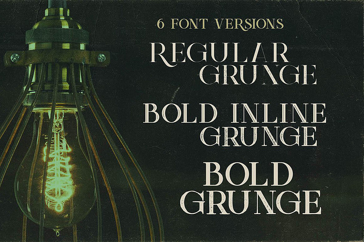 Green Light - Vintage Style Font example image 4