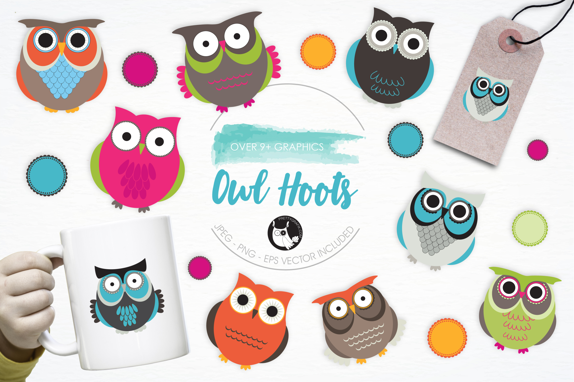 Owl Hoots graphics and illustrations example image 1