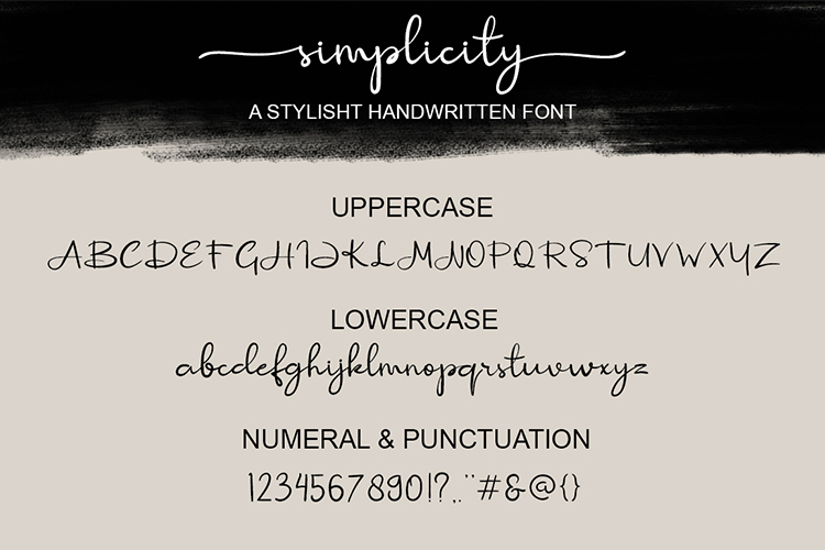 Simplicity Handwritten Font example image 10