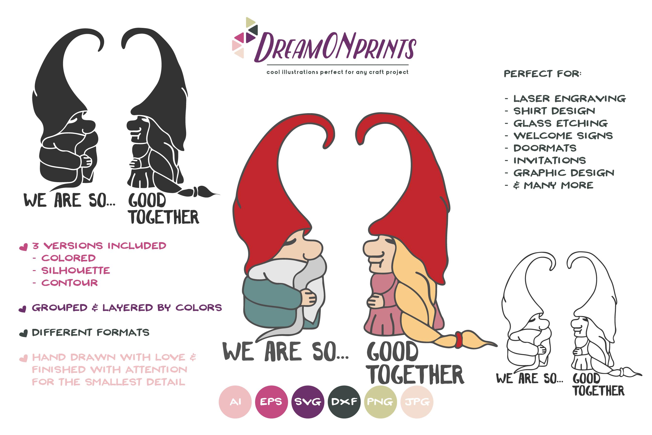 Download Love Gnomes SVG - Valentine Gnome SVG, Couples SVG (189859 ...
