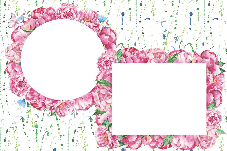 Watercolor Romantic Bouquet clip art example image 3