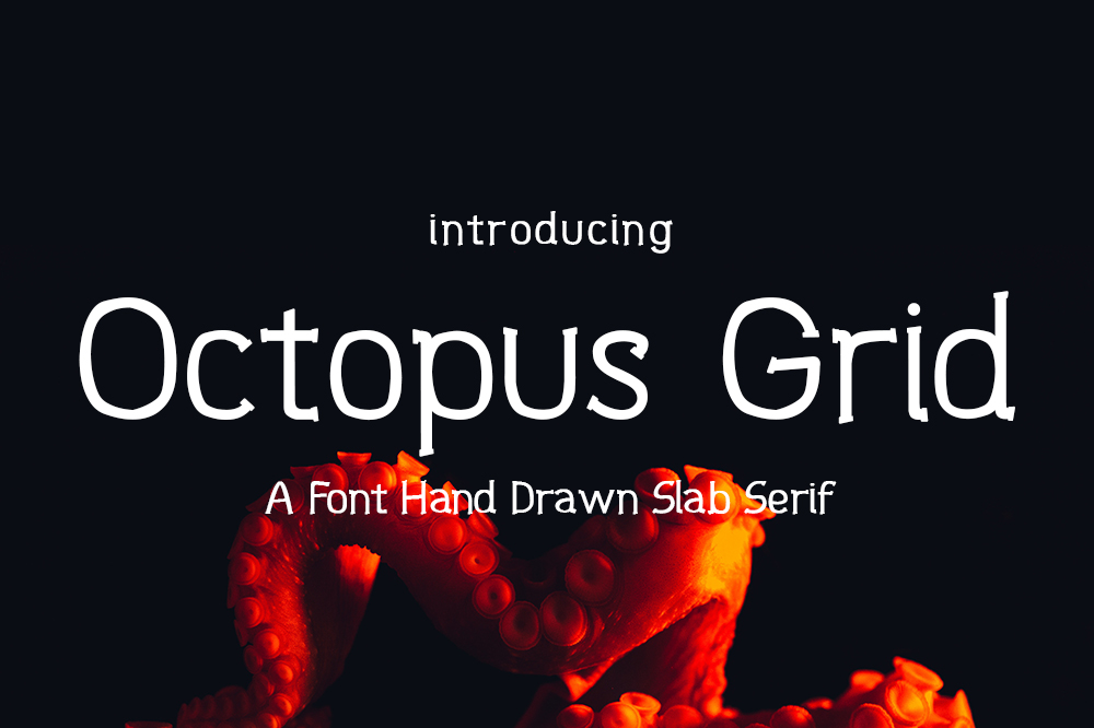 Octopus Grid Font example image 1