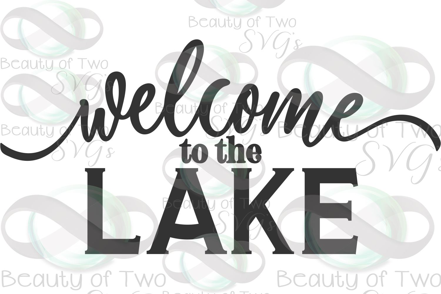 Welcome to the Lake svg, Lake House cabin sign svg, Lake svg example image 3