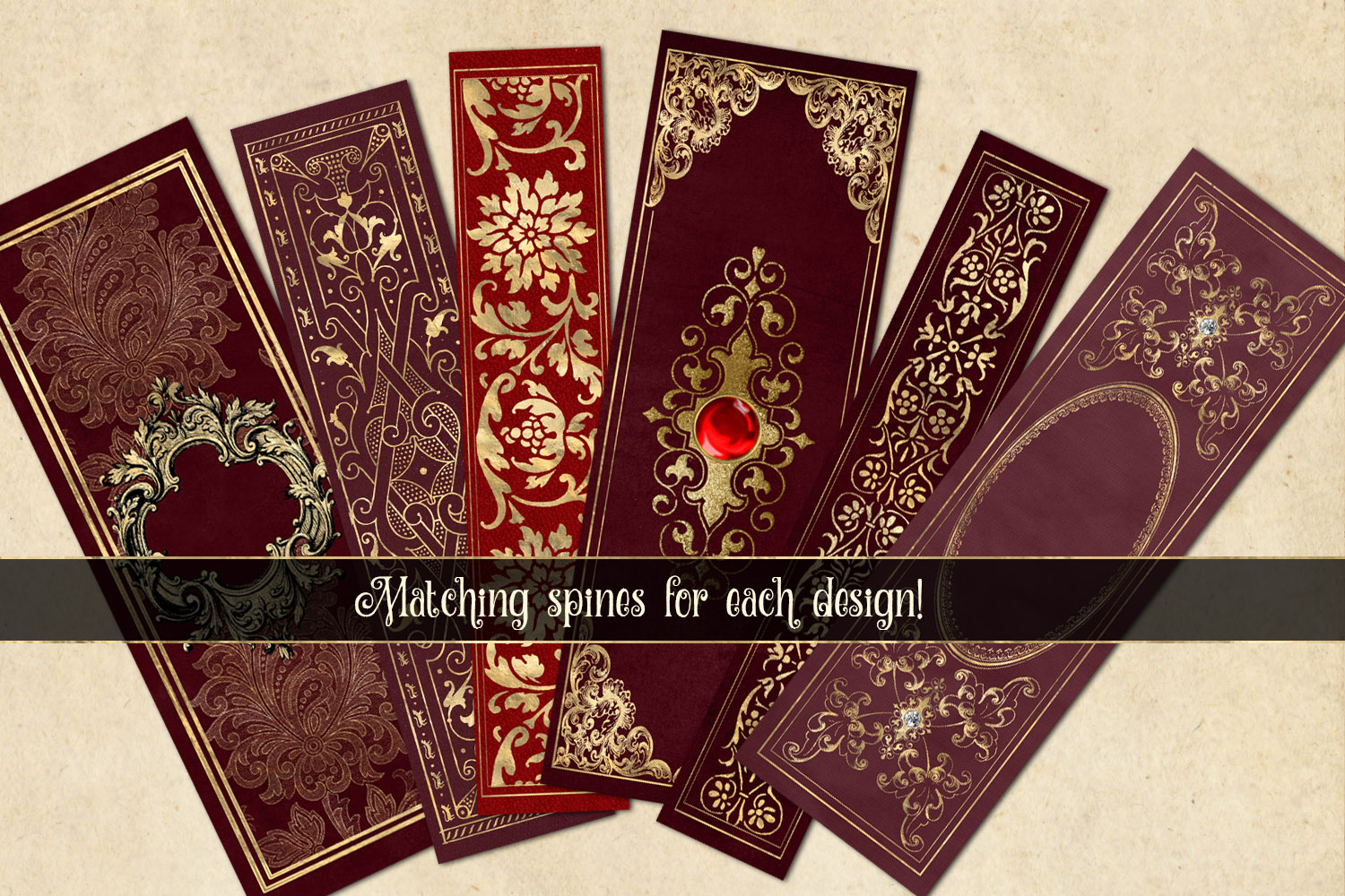 Gilded Red Book Covers example image 4