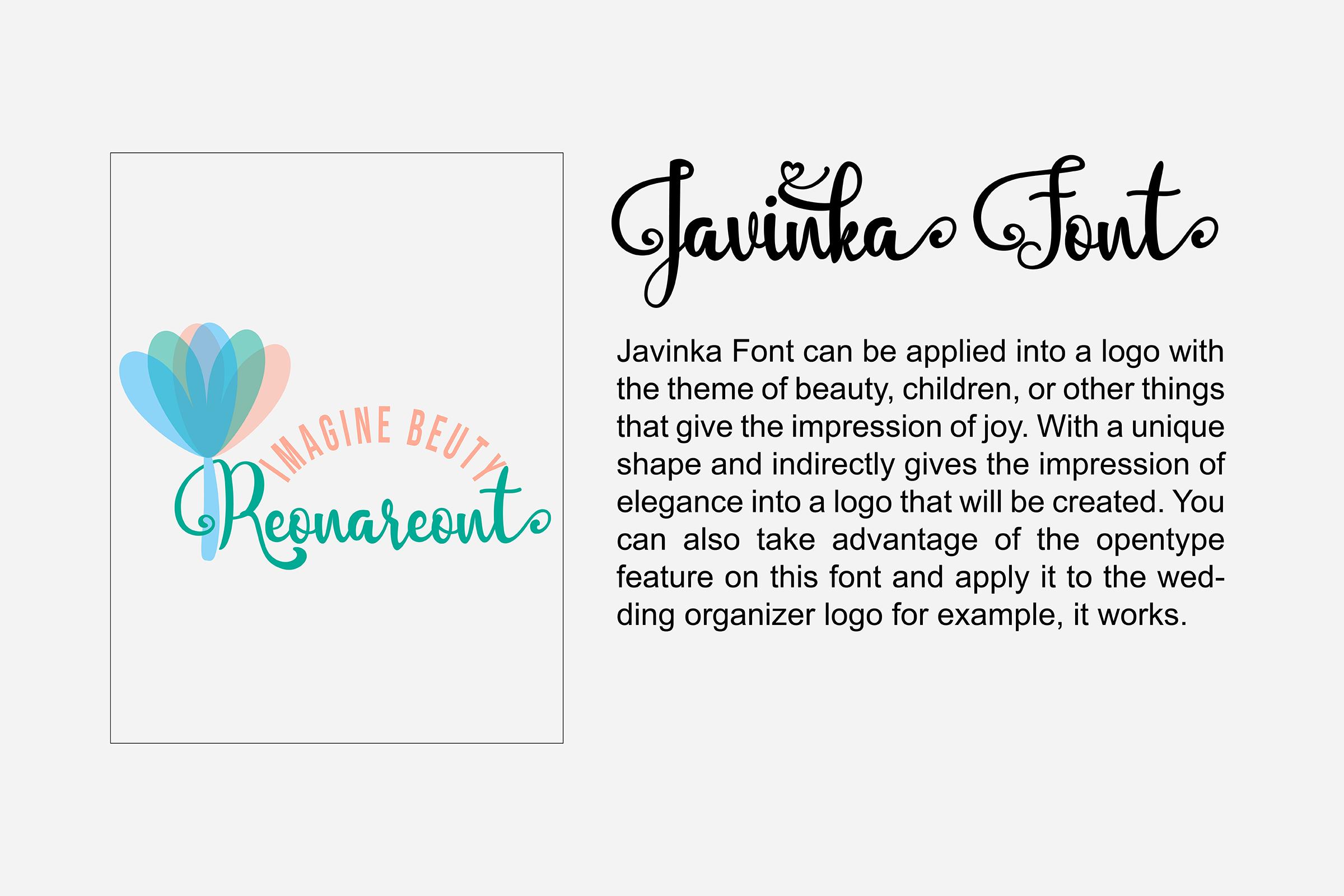 Javinka font example image 3