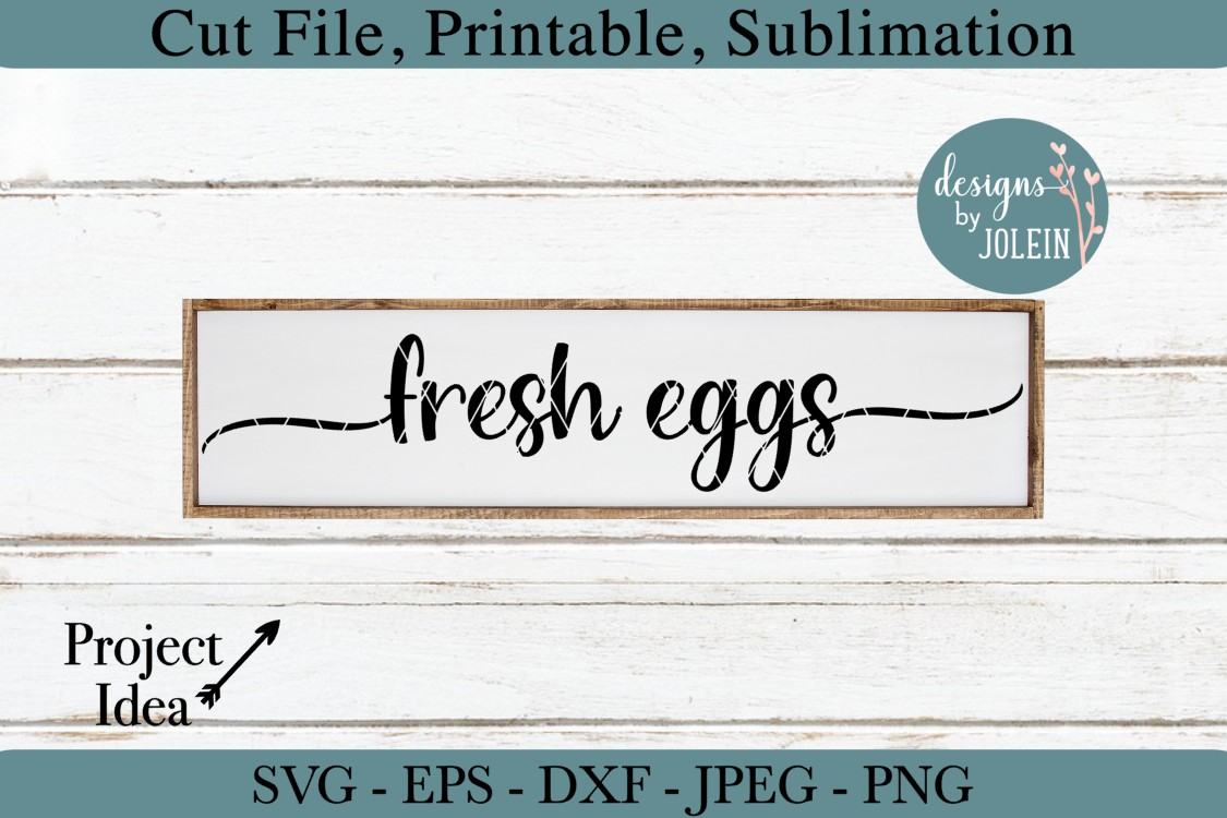 Fresh Eggs SVG, png, eps, DXF, sublimation example image 1
