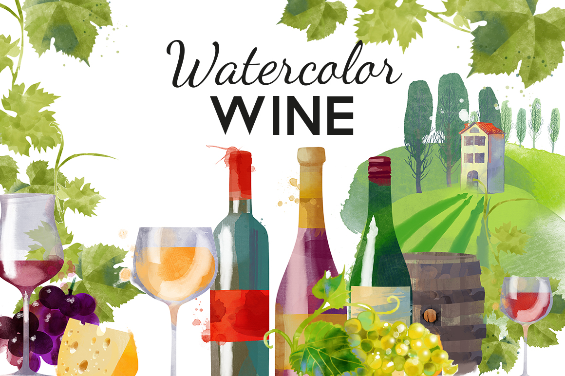 Watercolor wine example image 1