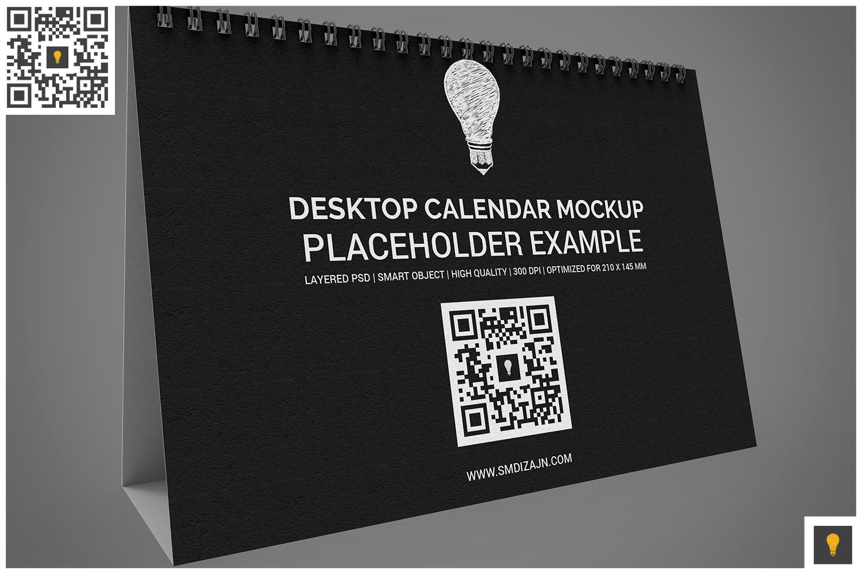Desktop Calendar Mockup example image 3