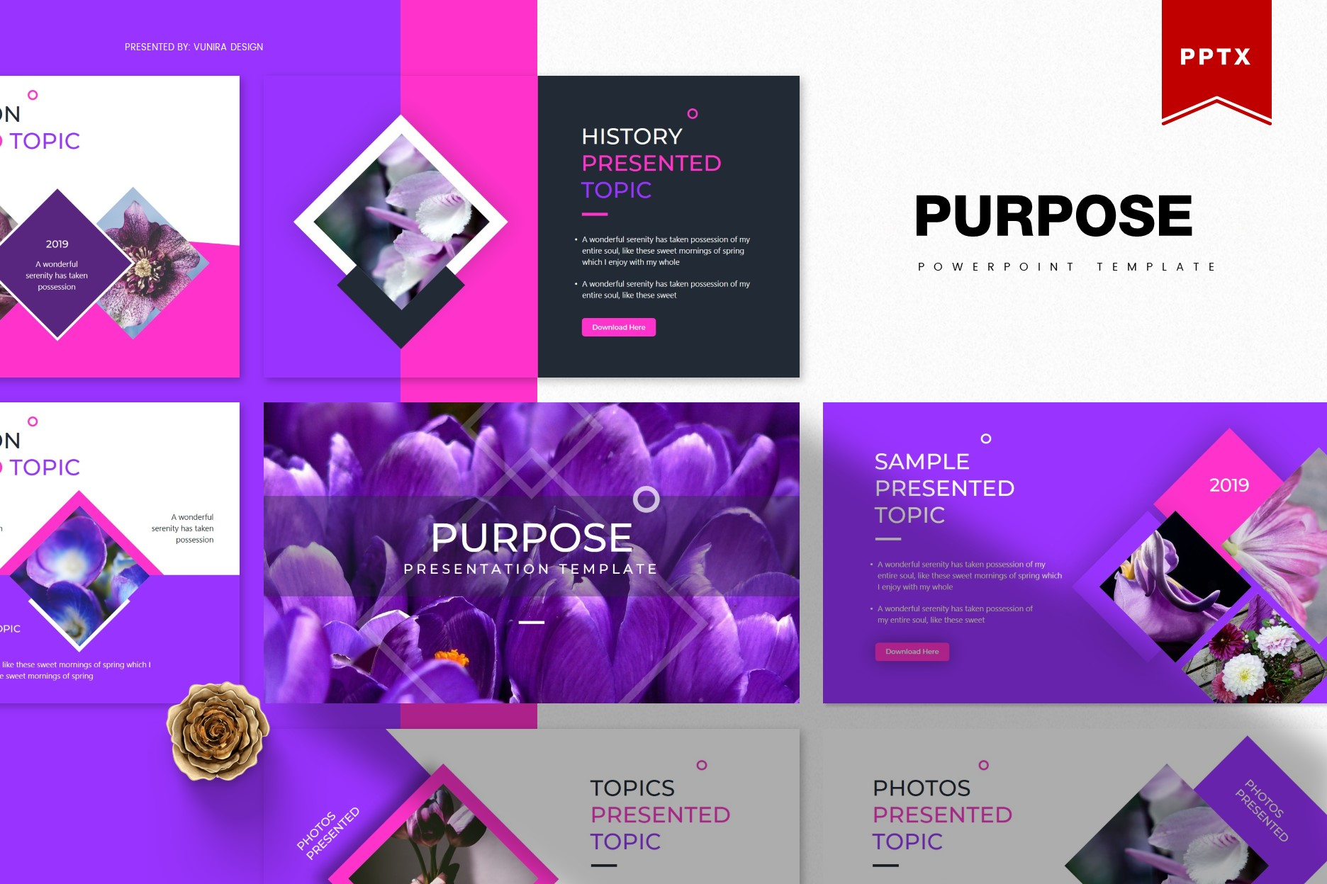 Purpose | Powerpoint, Keynote, GoogleSlides Template example image 1