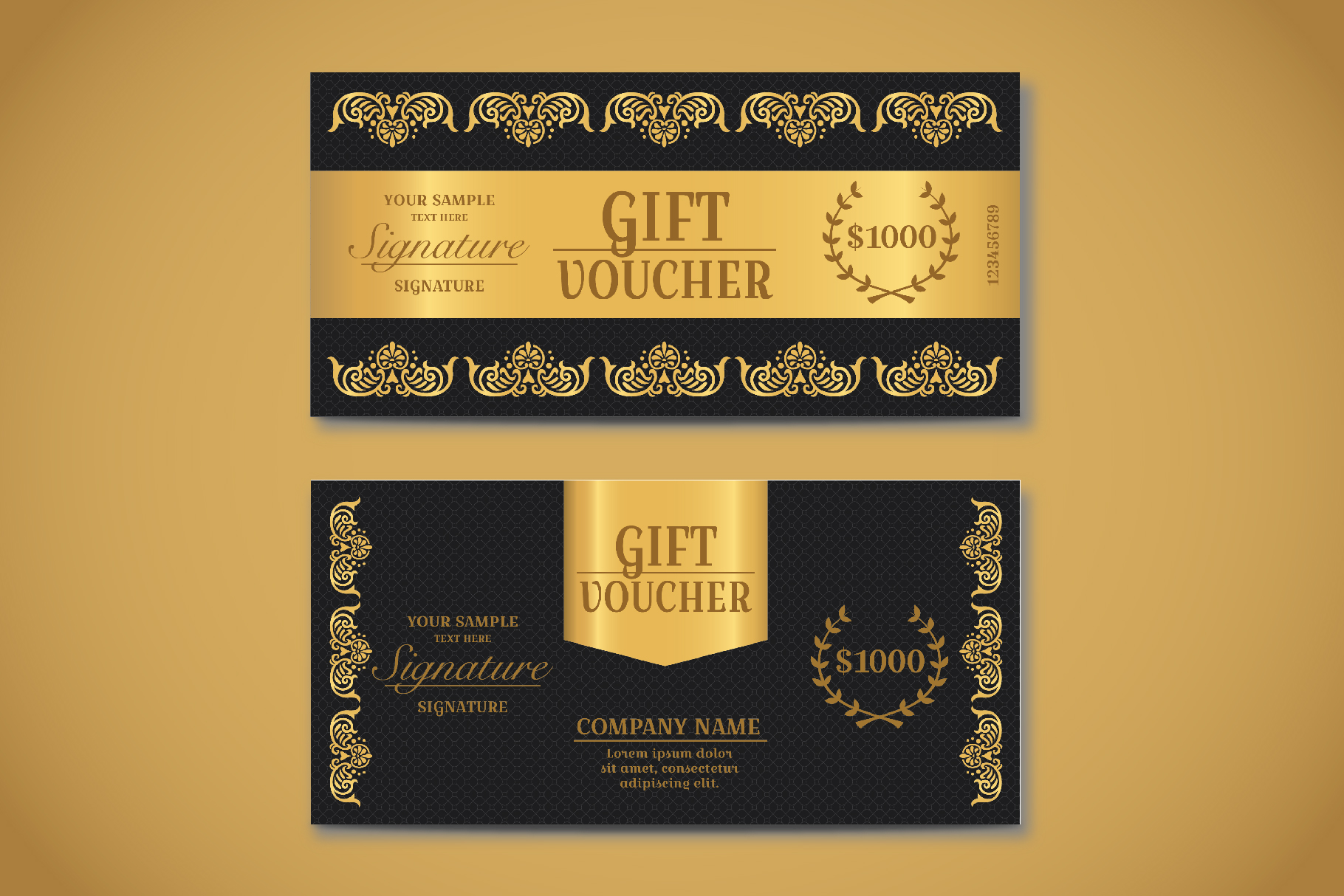 Exclusive Gift Voucher Template example image 2