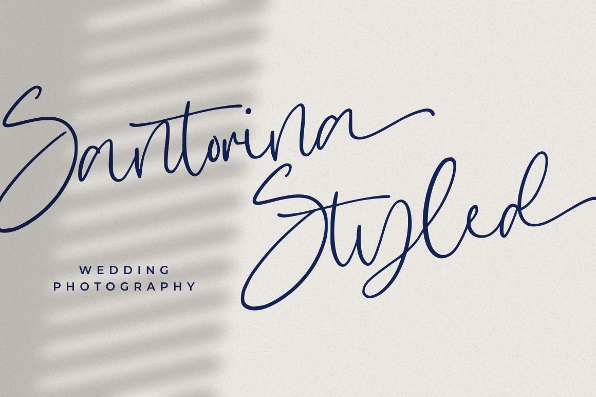 Hugesnow - Signature Font example image 2