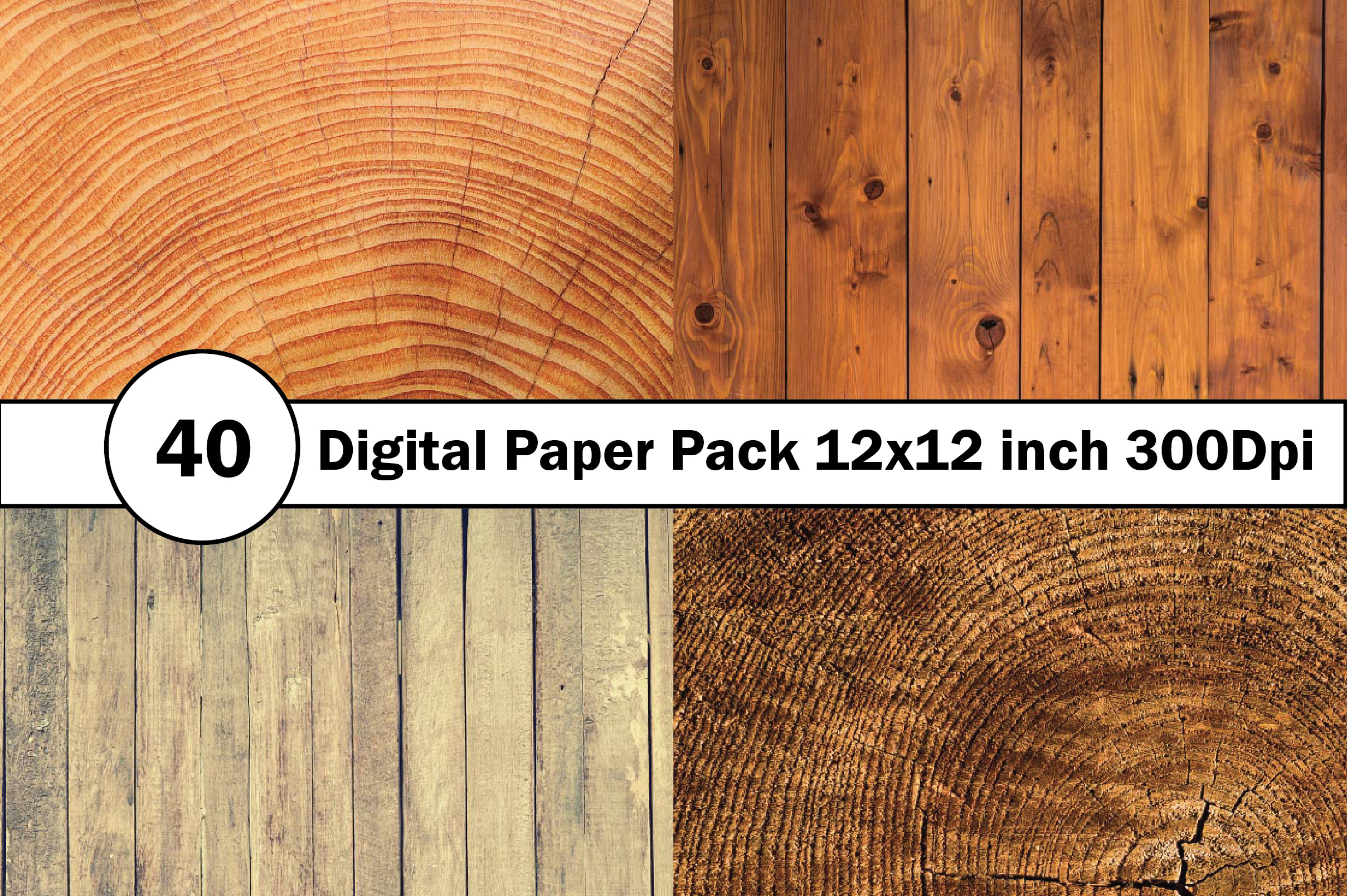 40 Digital Paper Pack 12x12 inch 300 Dpi example image 4