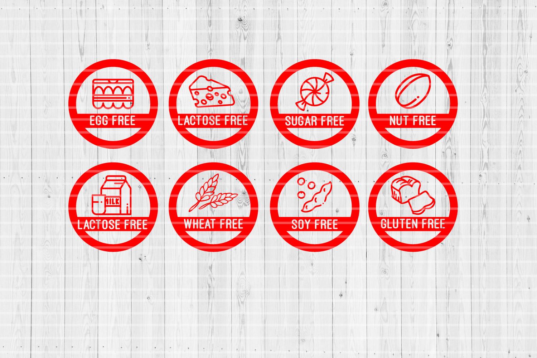 58 Allergy Badges Super Bundle | SVG Cut files | example image 4