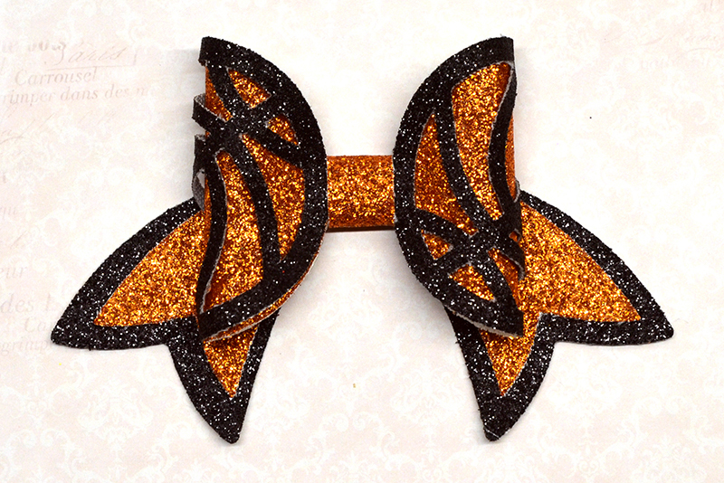 Basketball Hair bow template SVG, DIY leather bow template example image 1