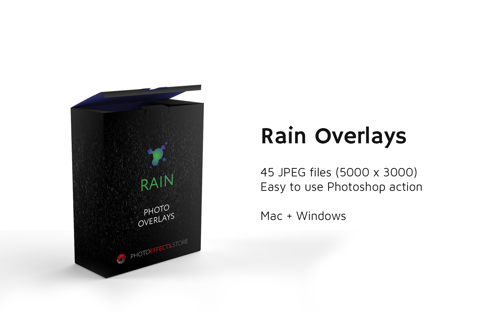 45 Rain Photo Overlays example image 2