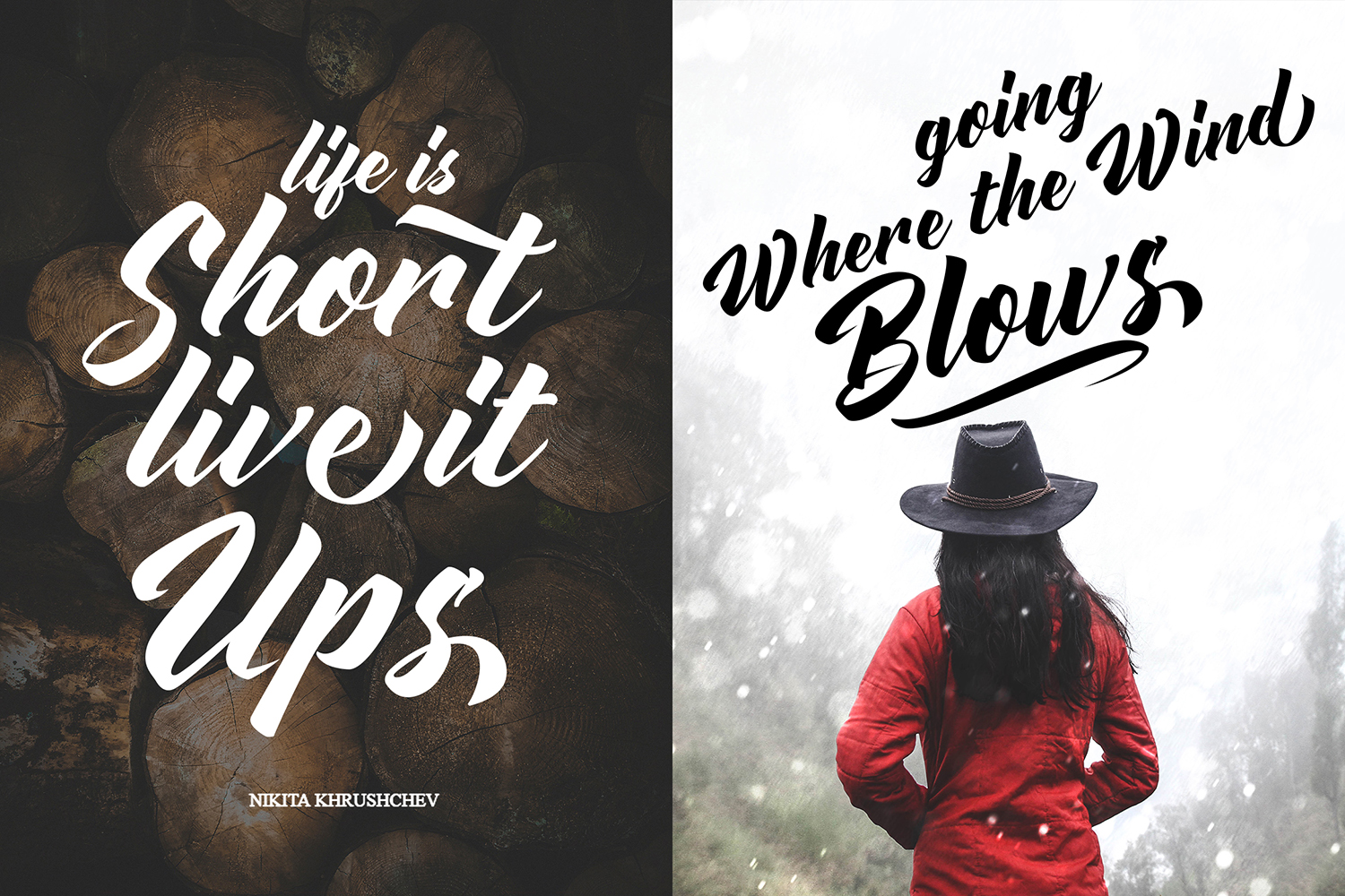 Advectionz | Brush Script Font example image 3