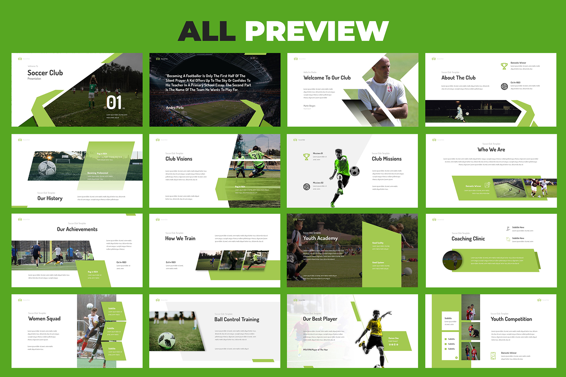 Soccer Club Keynote Presentation example image 5