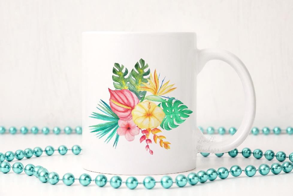 Party white coffee mug mock up sublimation 11oz cup mockup example image 4