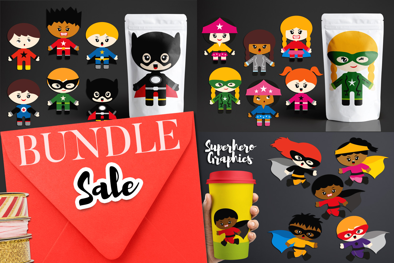 Illustrations Huge Bundle - Superhero Clip Art Graphics example image 8