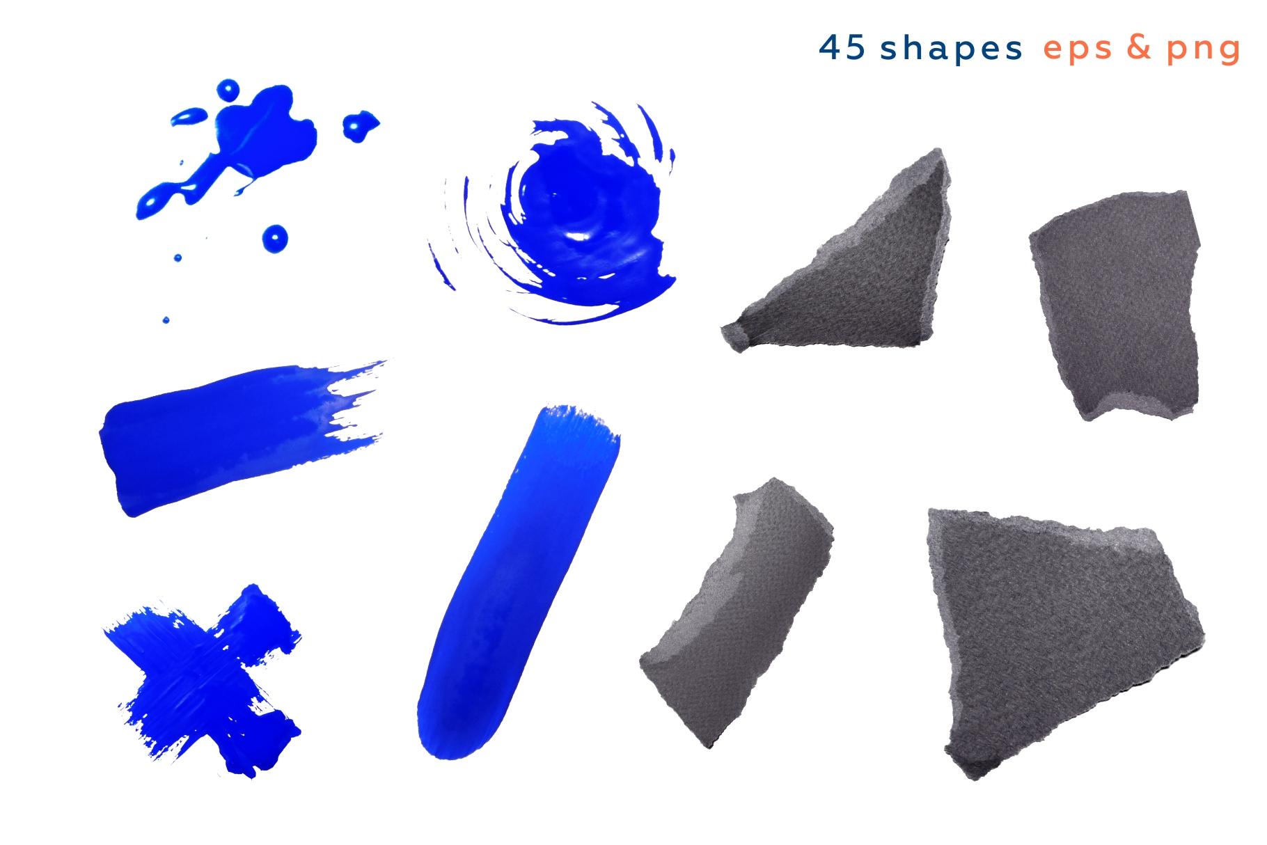Shake this art! Collage pattern set. example image 10