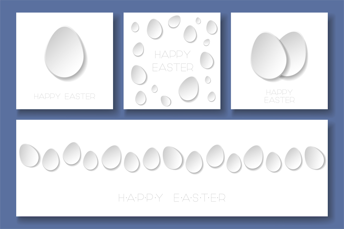 Happy Easter minimalistic cards example image 1