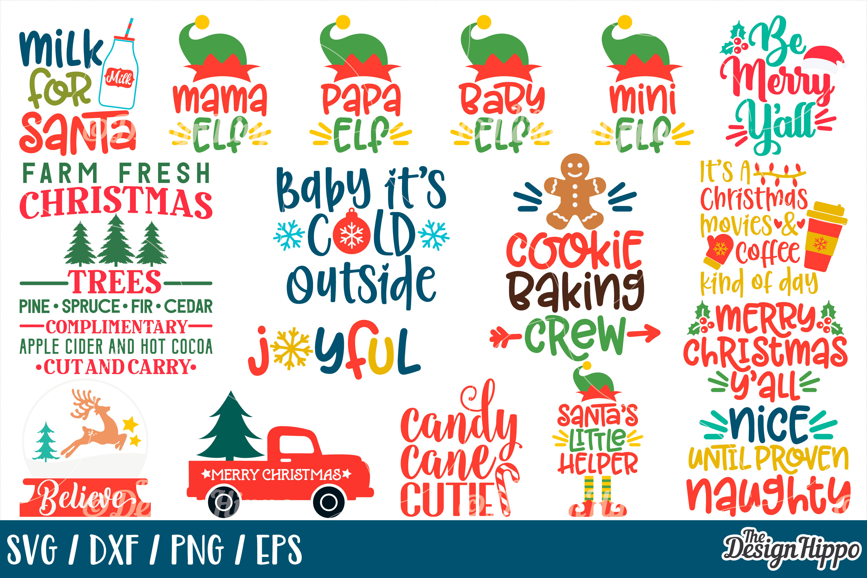 MEGA Christmas Bundle SVG PNG DXF EPS Cricut Cutting Files example image 2