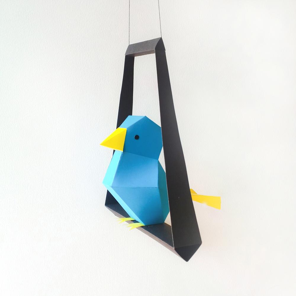 DIY Paper Bird - 3d papercraft example image 4