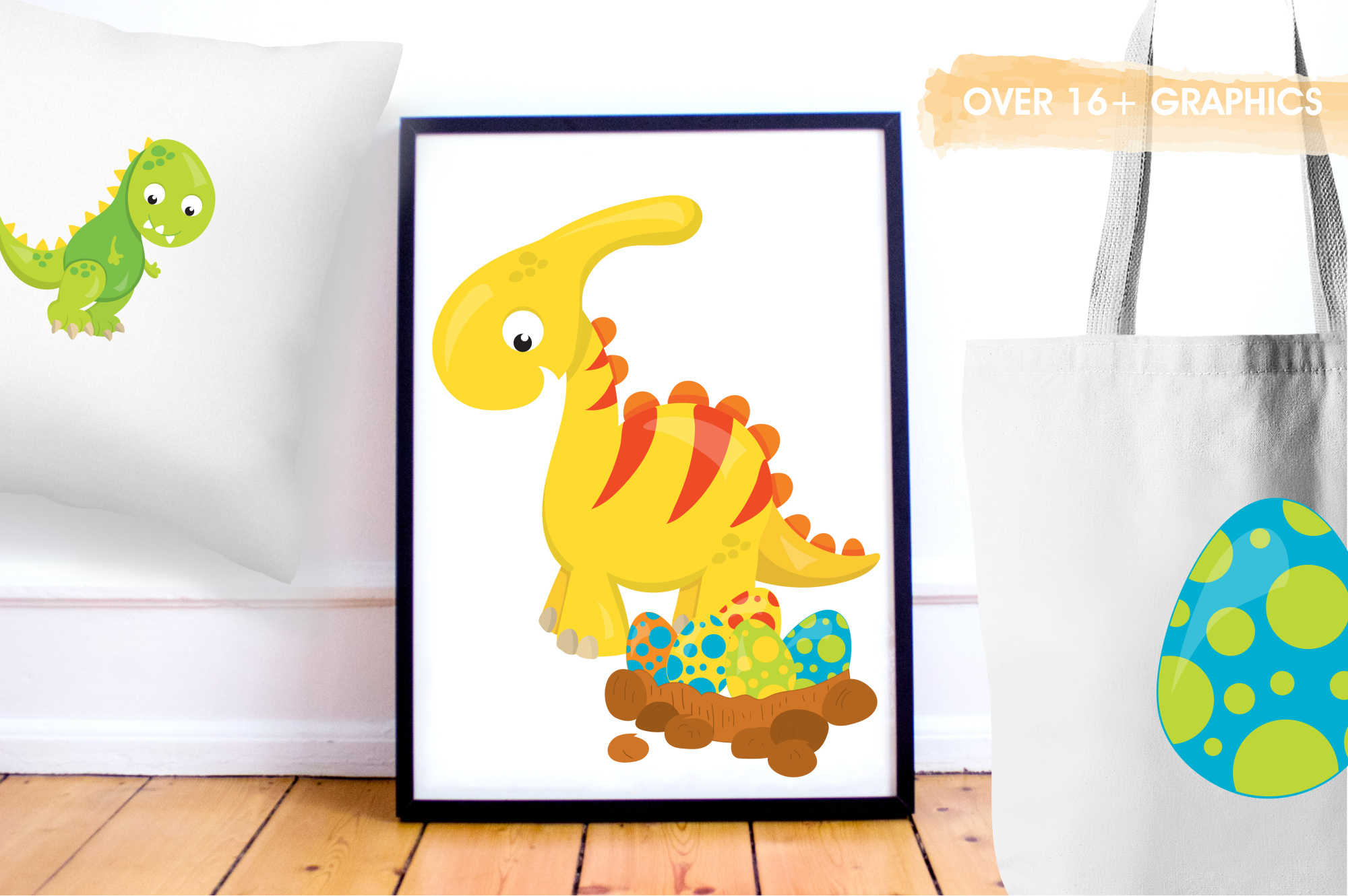 Dinosaur Babies graphics and illustrations example image 5