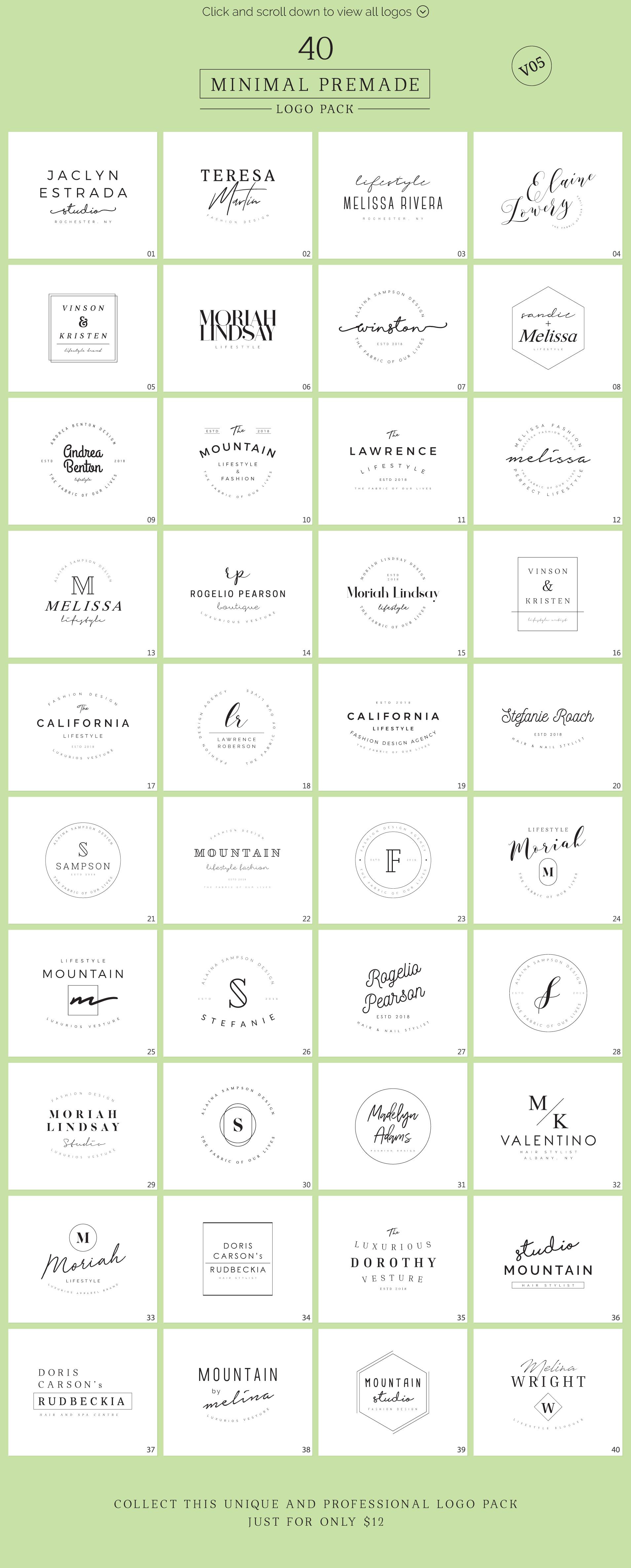 640 Premade Logos Mega Bundle example image 24
