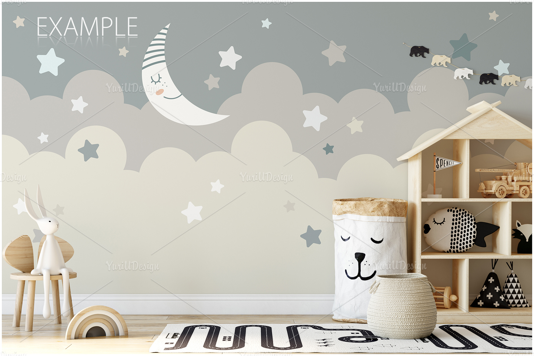 Kids Frames & Wall Mockup Bundle - 5 example image 10