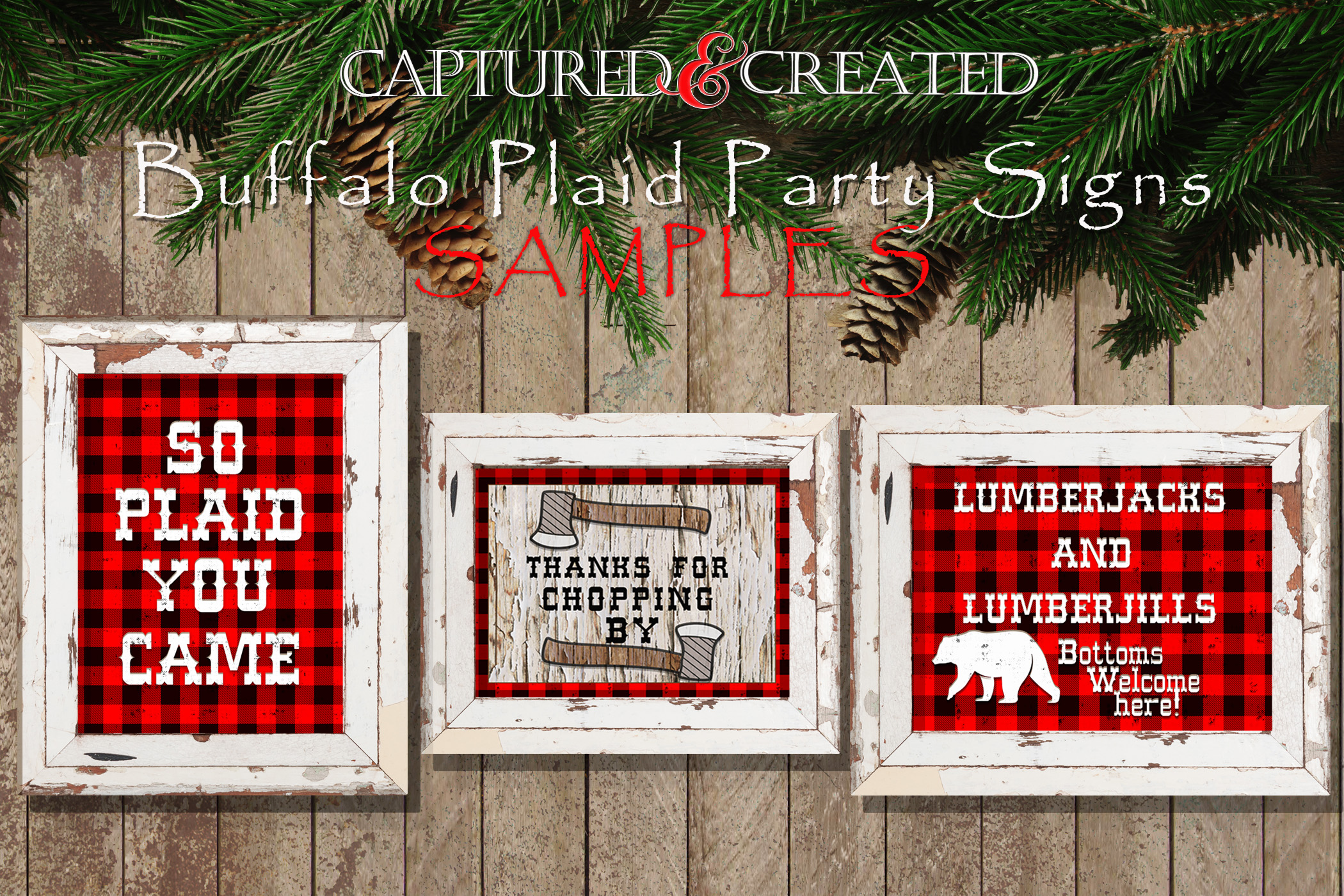 Buffalo Plaid Party Signs/ Wordart /Sayings example image 2