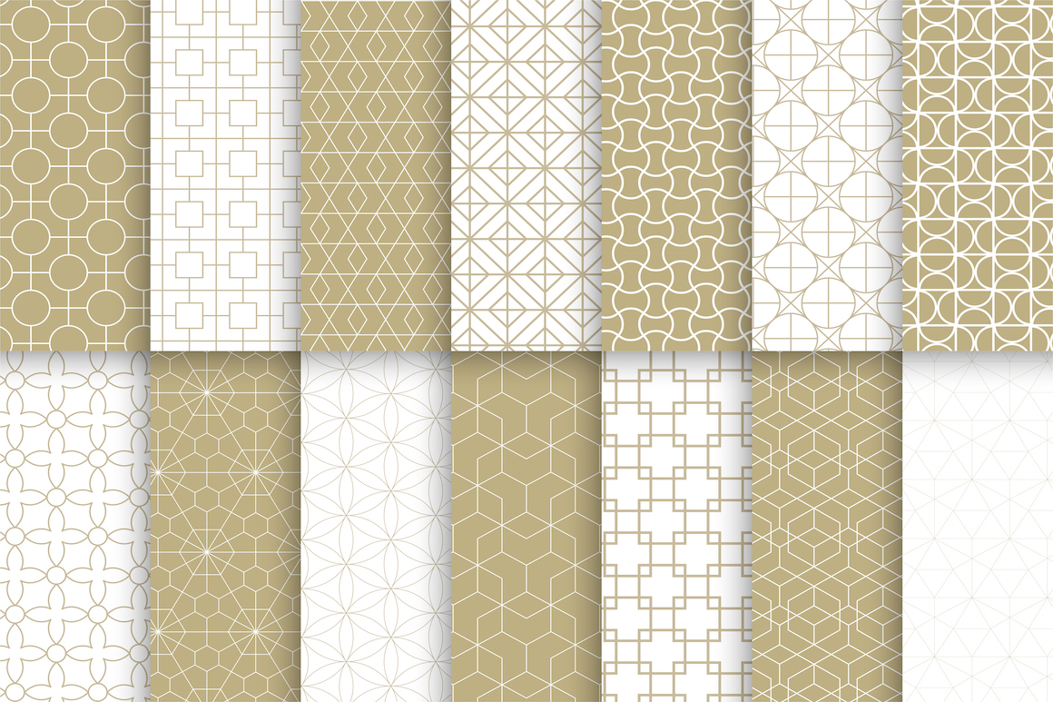 Vector ornamental seamless patterns example image 3