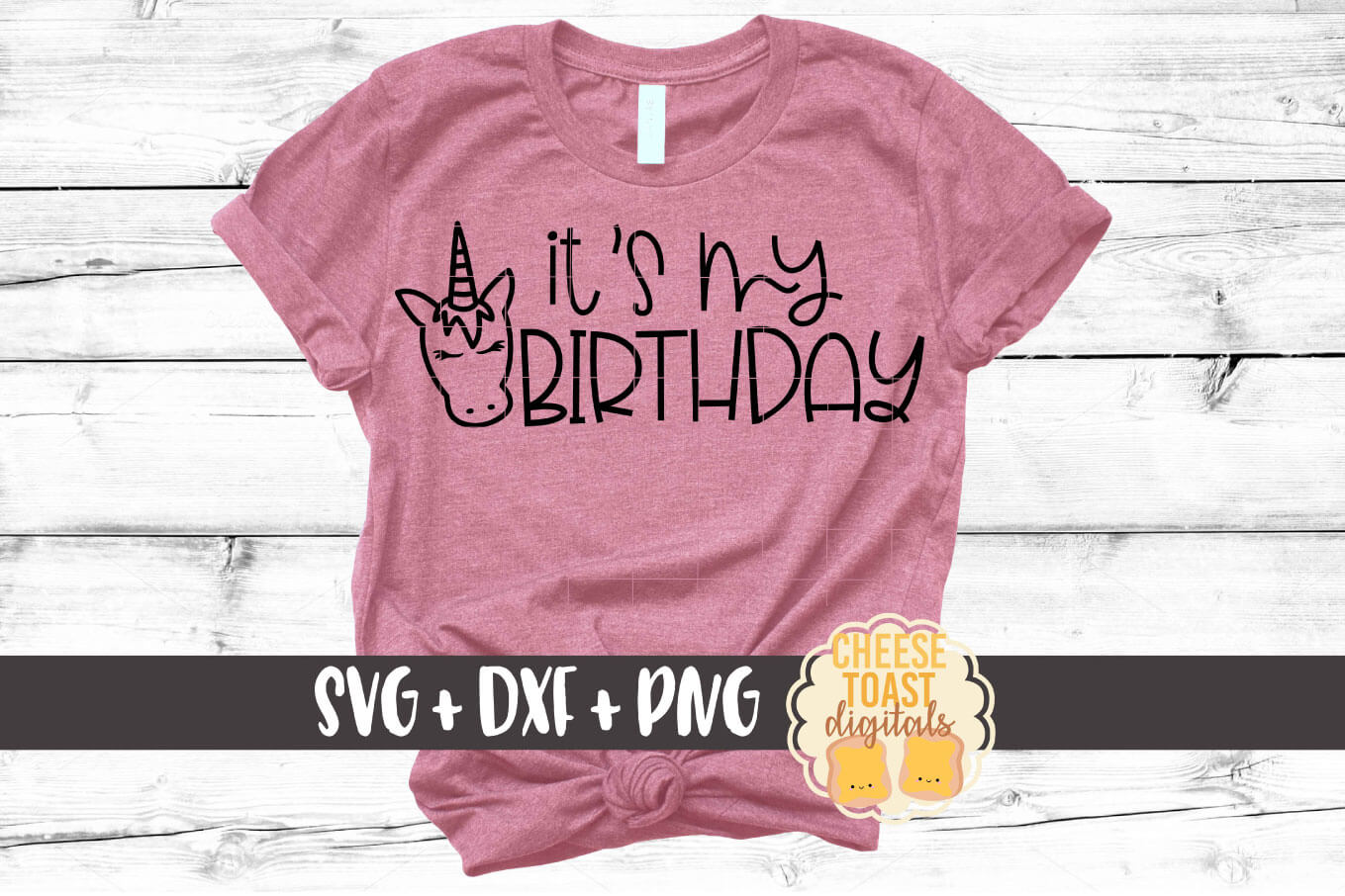 It's My Birthday - Unicorn Birthday SVG PNG DXF Cut Files example image 1