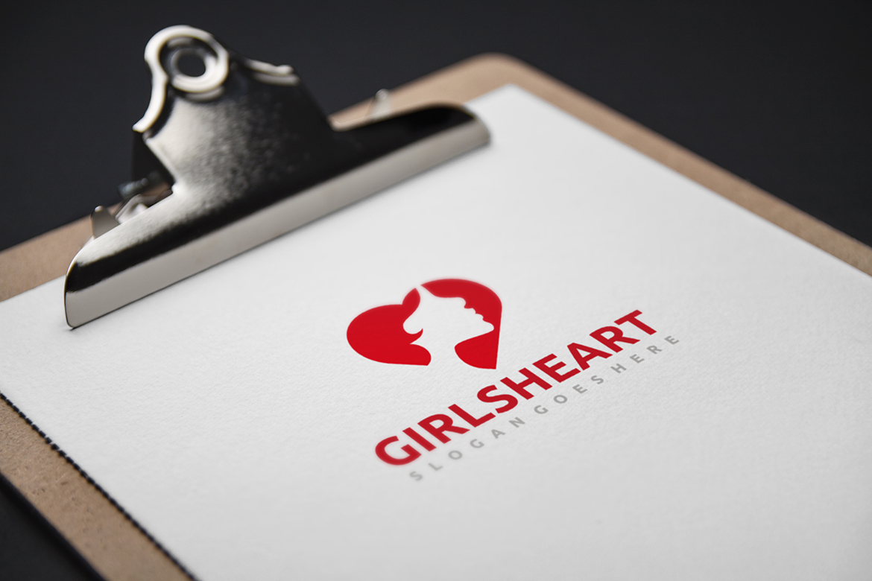 Girl Heart Logo example image 4