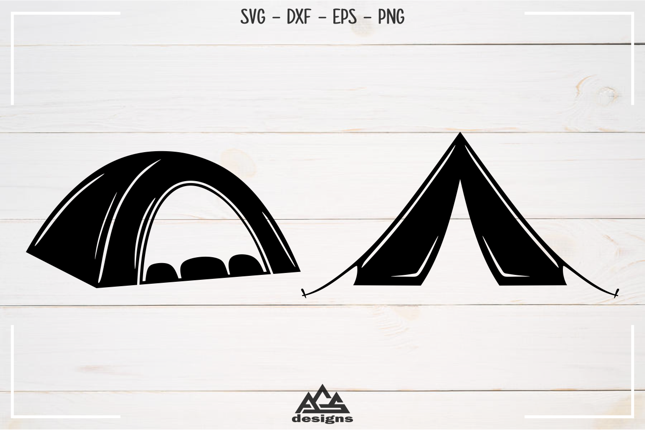 Camp Camping Tent Packs Svg Design example image 3