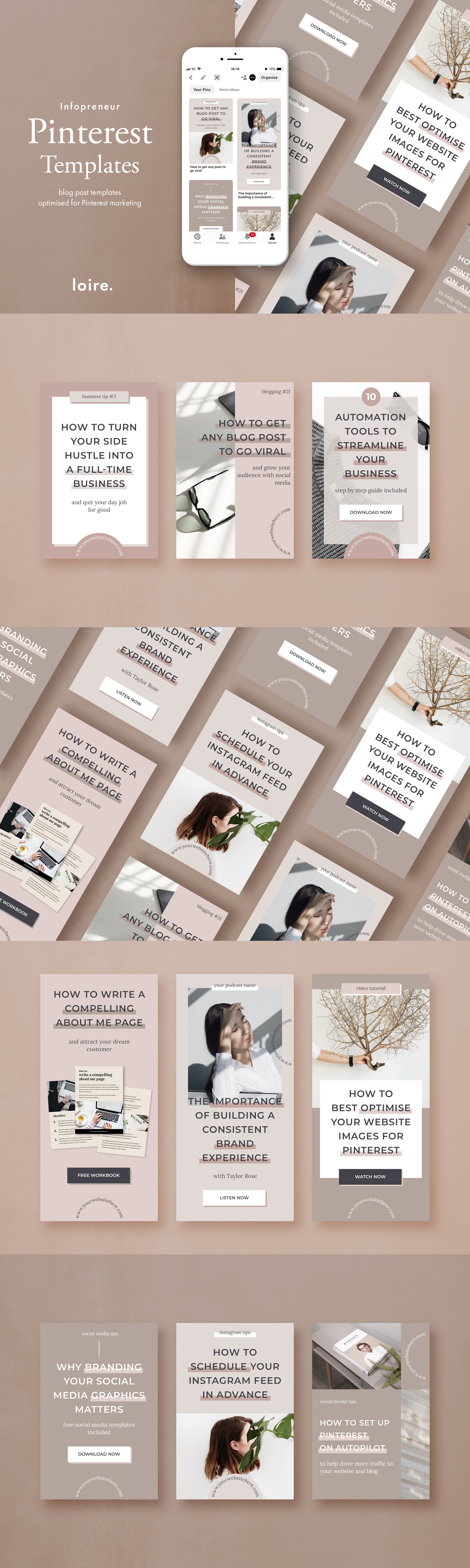 Pinterest marketing graphics template pack example image 8