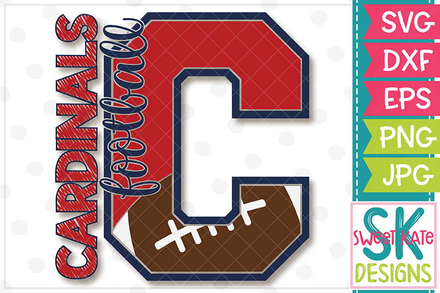 C Cardinals Football SVG DXF EPS PNG JPG example image 4