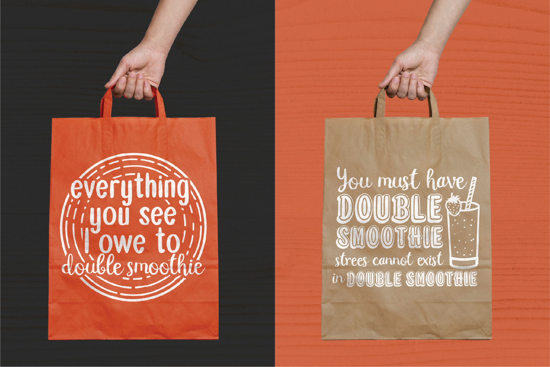 Double Smoothie Font Duo and Family example image 6