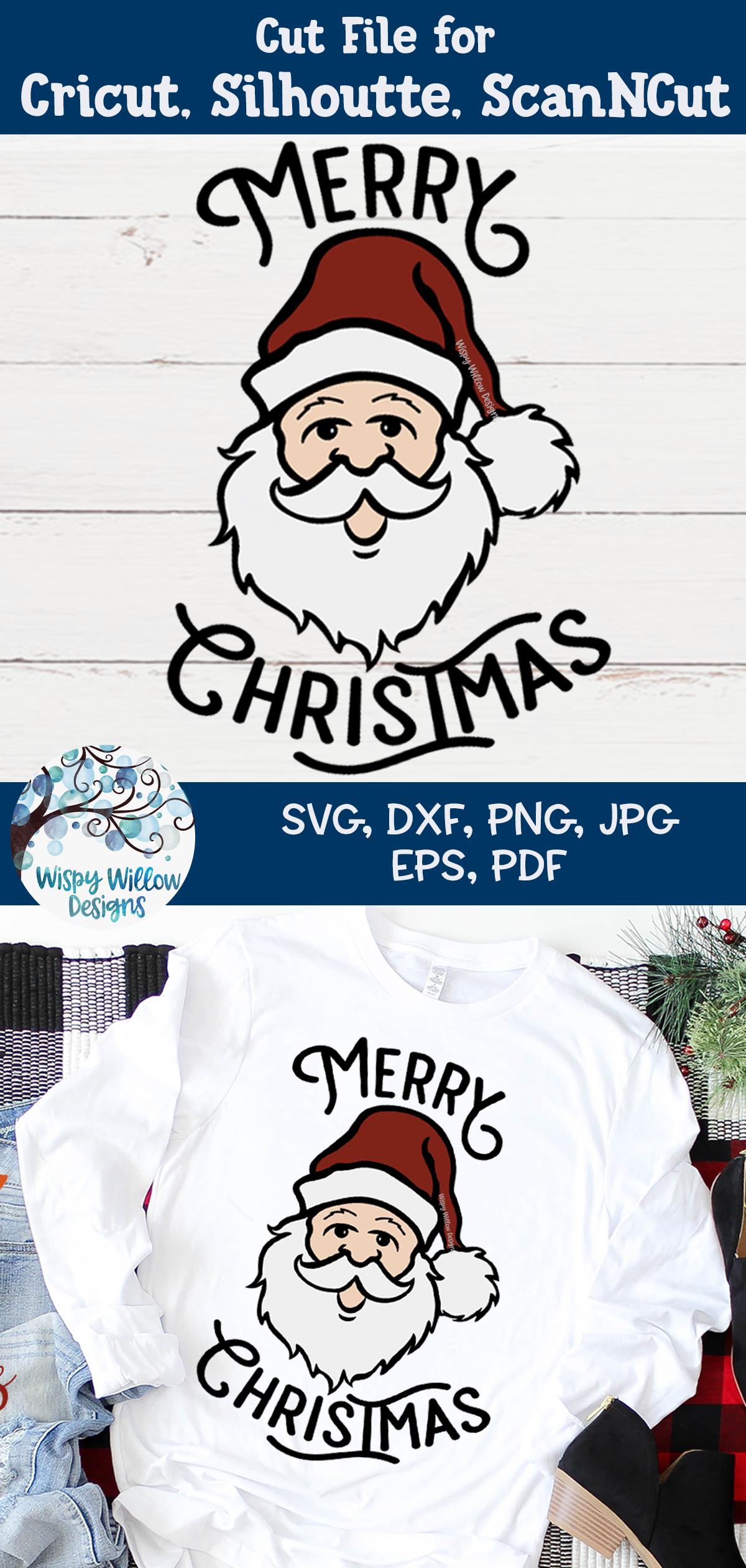 Merry Christmas Santa SVG | Retro Christmas Santa SVG File example image 4
