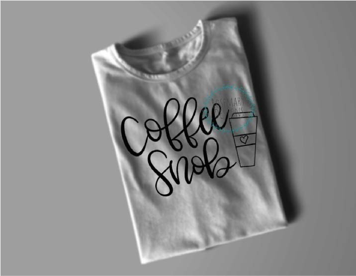 Coffee Snob  Hand lettered SVG example image 2