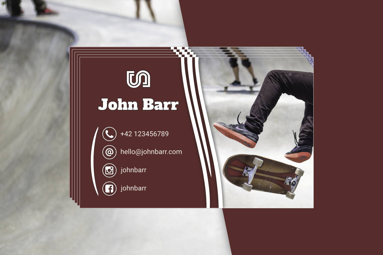 12 Sport Business Card Templates example image 6