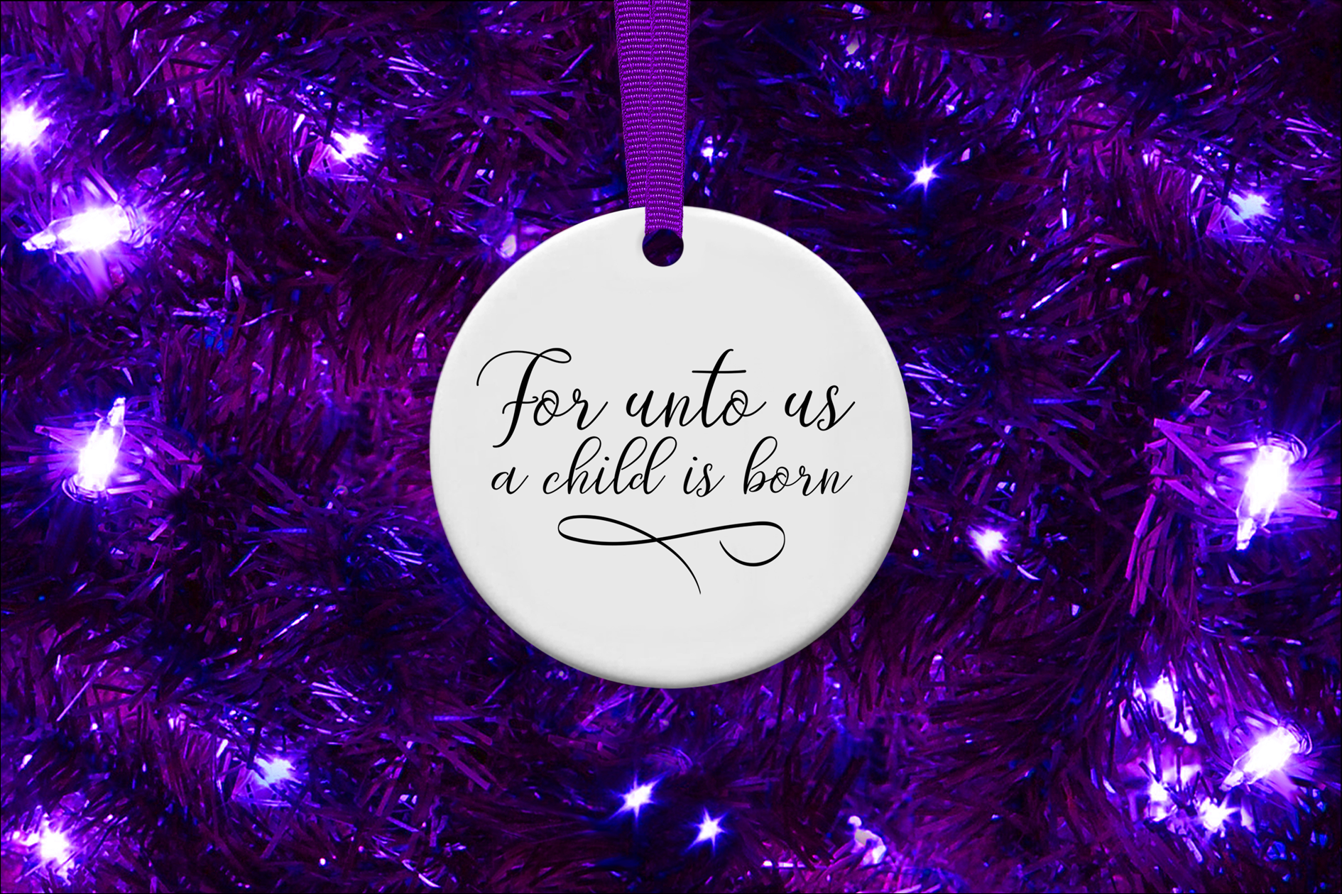 For Unto Us a Child is Born, A Christmas Scripture SVG example image 2