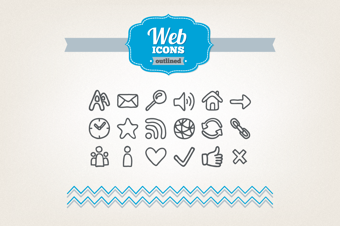 Hand Drawn Web Icons example image 1
