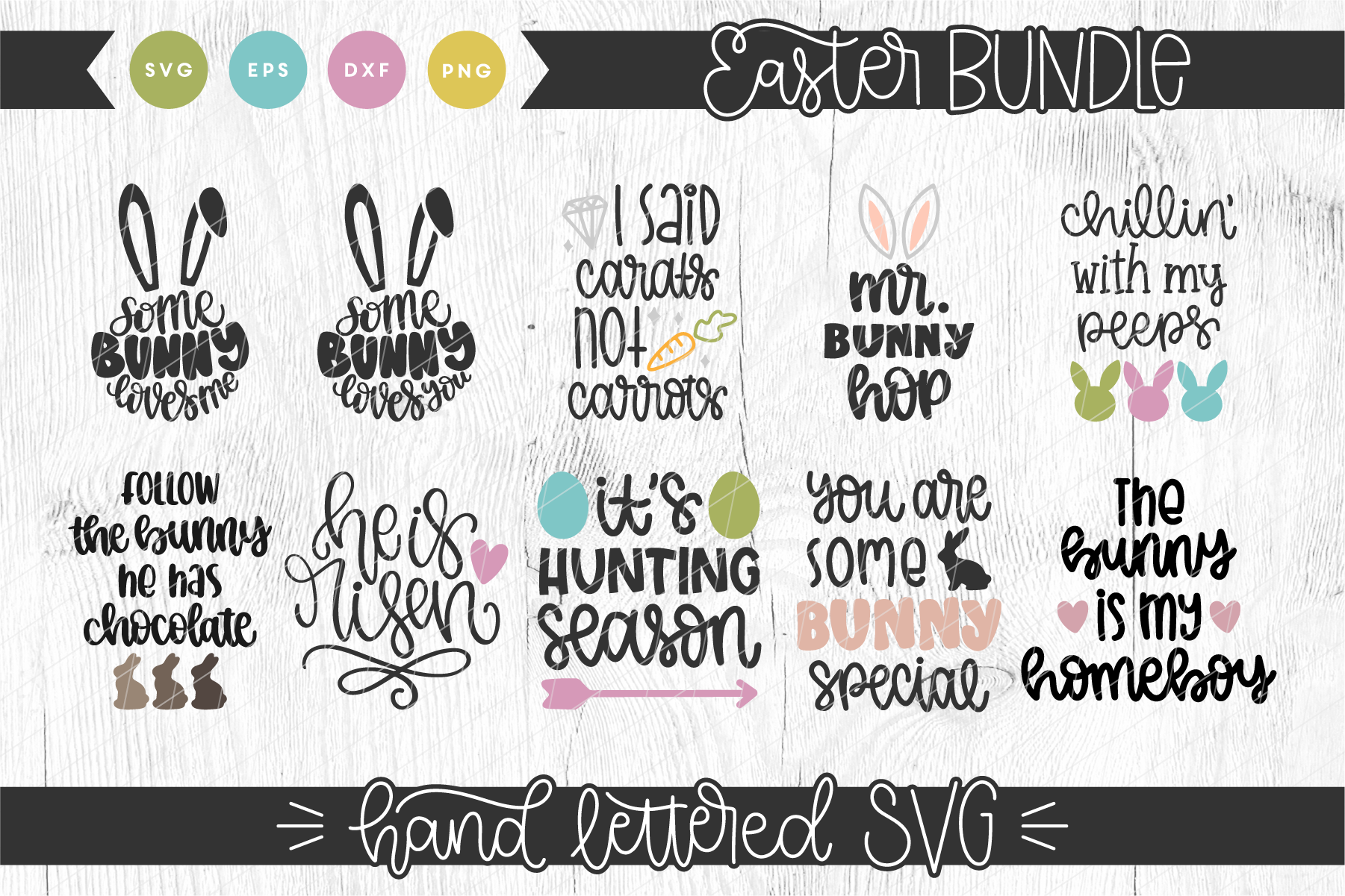 Hand Lettered Easter Bundle example image 1