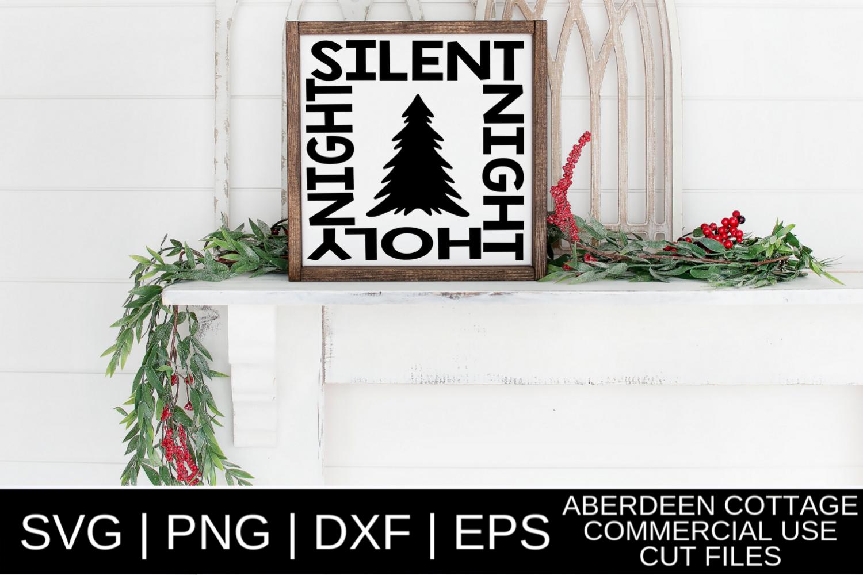 Silent Night Holy Night SVG Design example image 1
