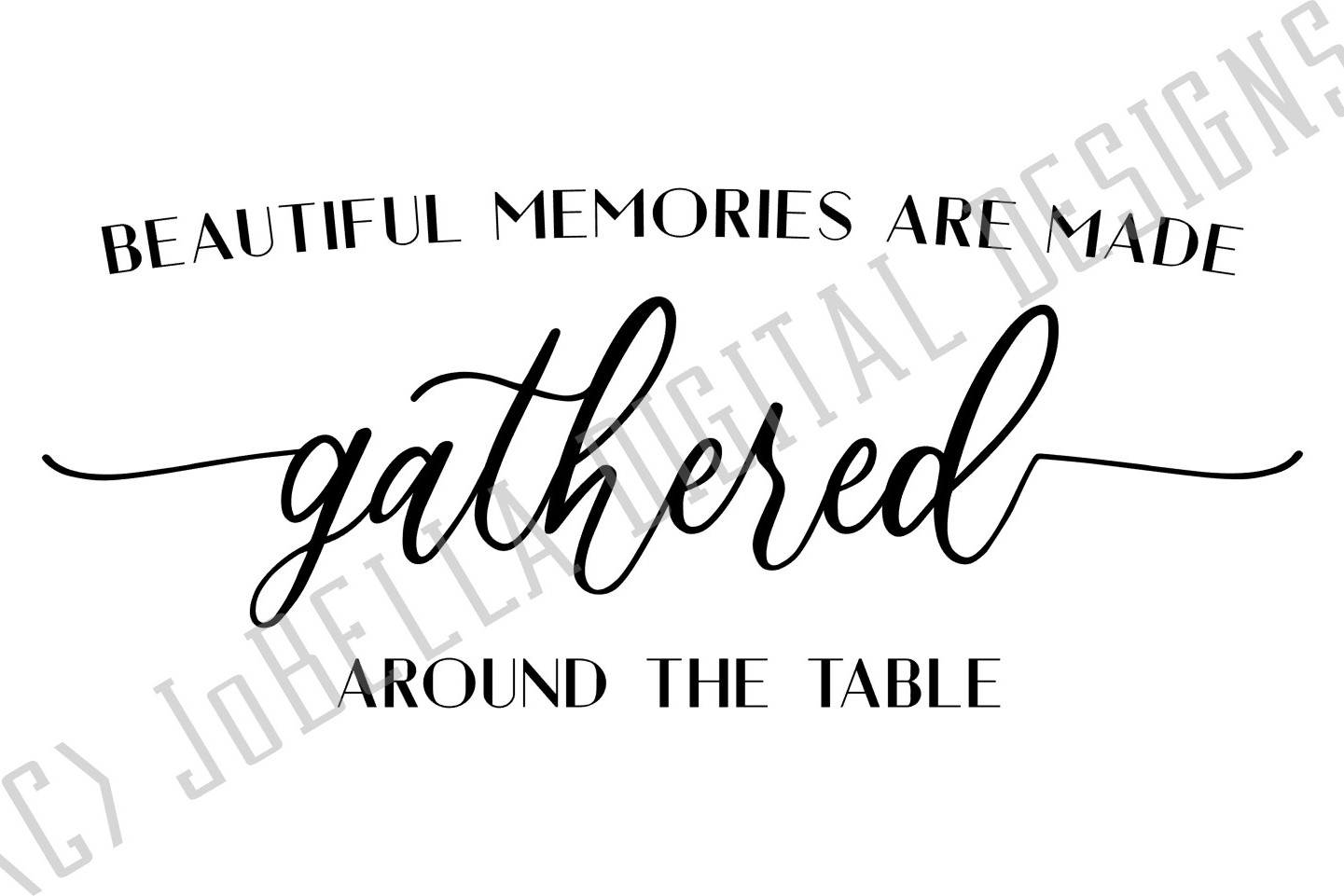 Gathered Around the Table Dining Room SVG and Printable example image 2