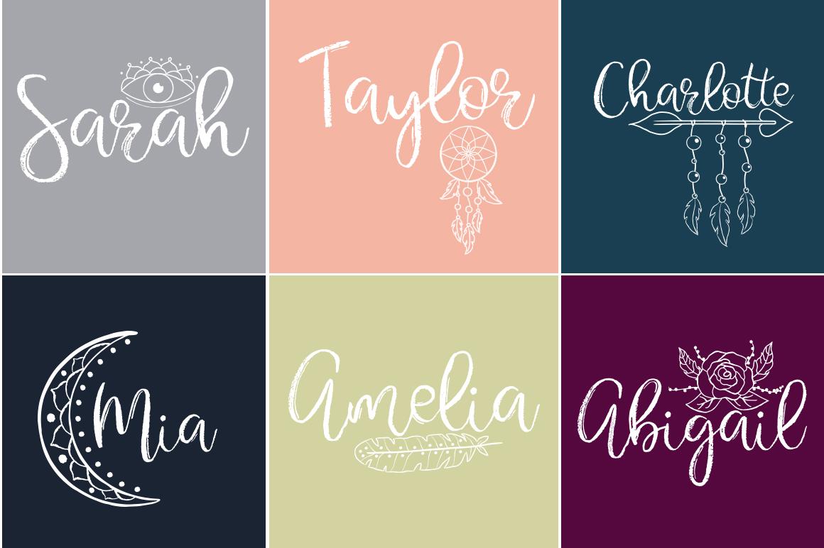 Gypsy Soul.Textured Brush Font+bonus example image 10