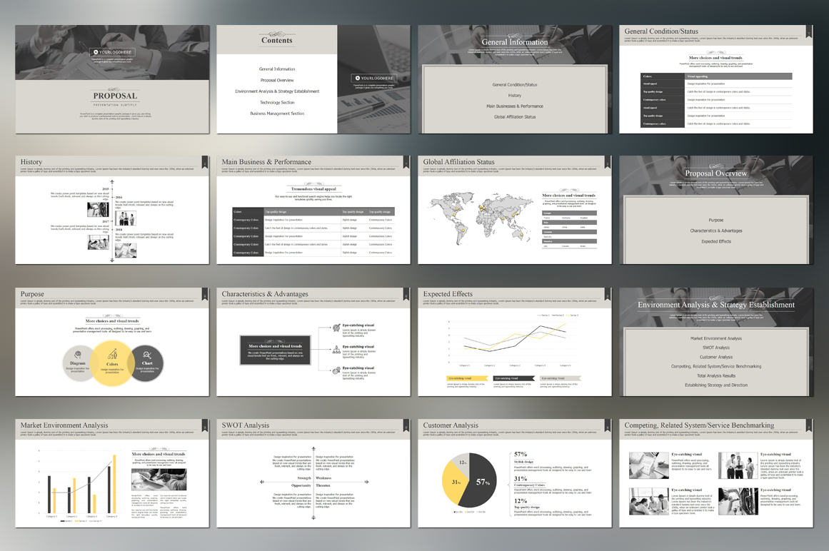 Modern Classic Strategy Proposal PowerPoint example image 2