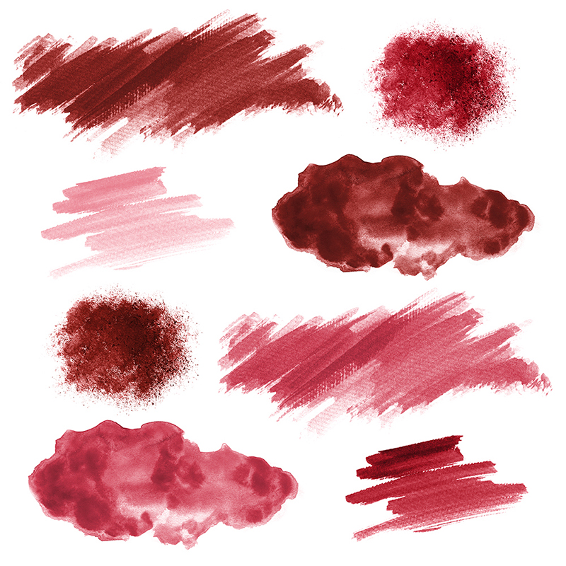 16 Red Watercolor Design Elements example image 2