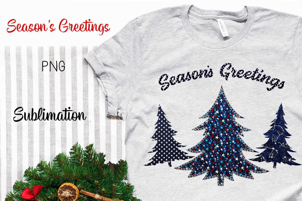 Season's Greetings Sublimation PNG example image 1